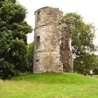 M74 junction 12 dog walk to a castle, Scotland - Dog walks in Scotland