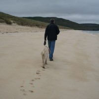 Traigh Mhor dog friendly beach on the Isle of Lewis, Scotland - Dog walks in Scotland
