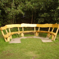 Rushcliffe Country Park dog walk, Nottinghamshire - Seat