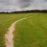 Rushcliffe Country Park dog walk, Nottinghamshire - Path