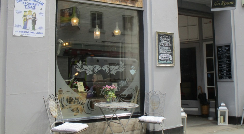 Welshpool dog-friendly Vintage Tea Rooms, Wales - dog-friendly pubs and dog walks in Wales.JPG