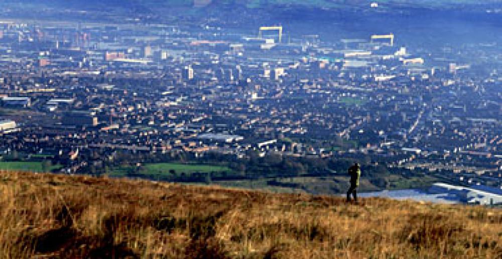 Black Mountain dog walk near Belfast, NI - Dog walks in Northern Ireland