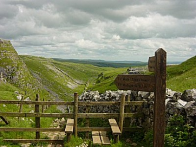 Limestone Walk with the dog at Malham, Yorkshire - Driving with Dogs