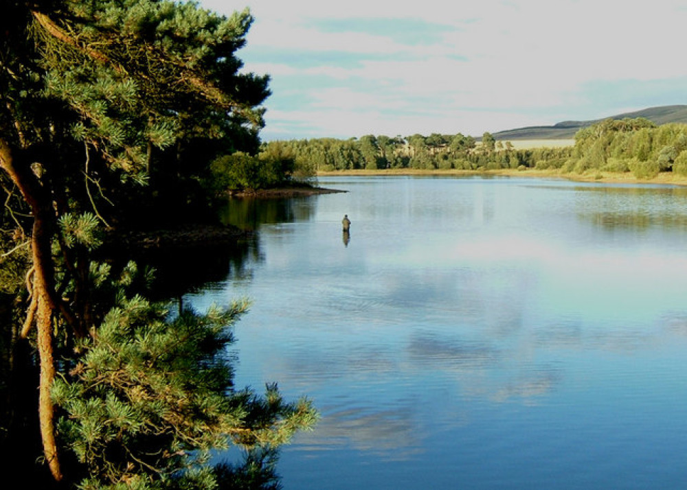 Harlaw Reservoir dog walk near Edinburgh, Scotland - Dog walks in Scotland