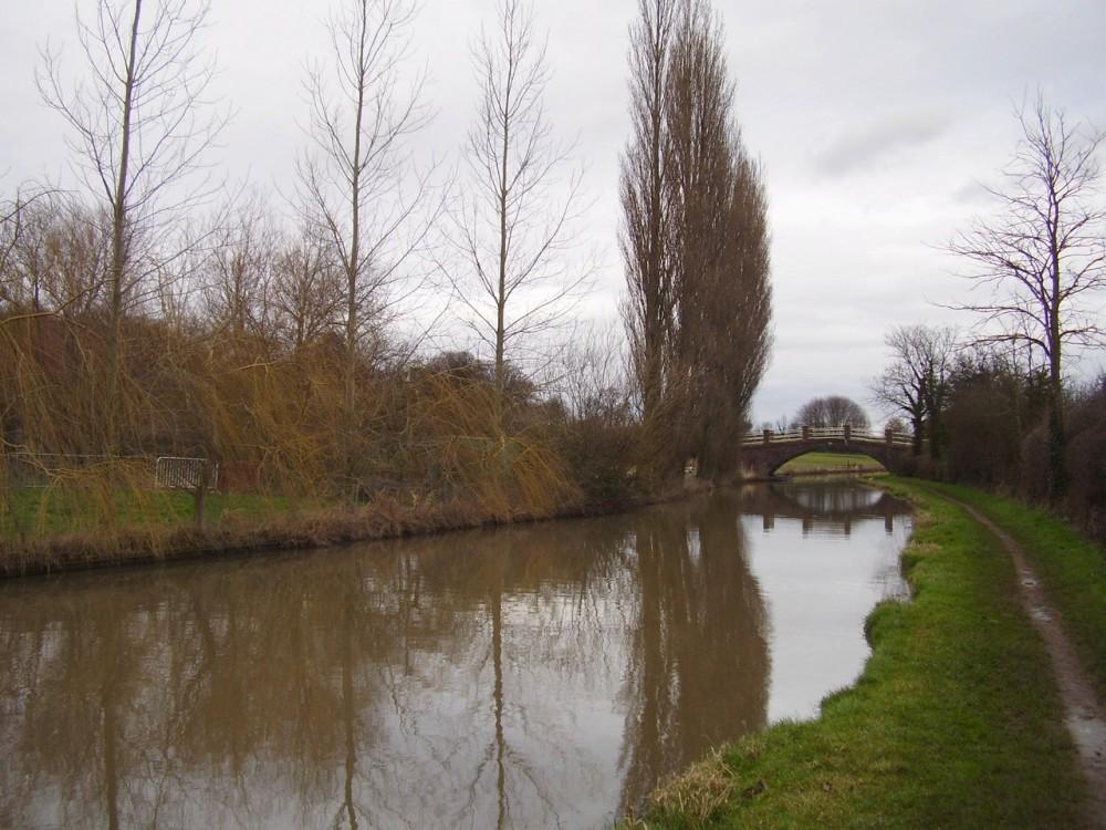 M6 Junction 2 Oxford Canal walk with pub, Warwickshire - Dog walks in Warwickshire