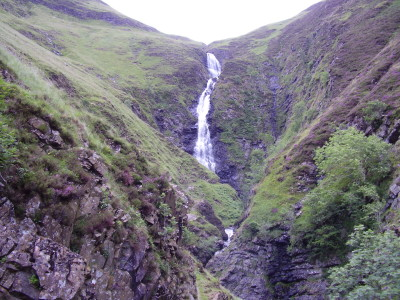 Waterfall dog walk near Moffat, Scotland - Driving with Dogs