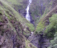 Waterfall dog walk near Moffat, Scotland - Dog walks in Scotland