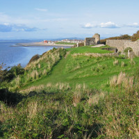 Heysham Old Village dog walk and beach, Lancashire