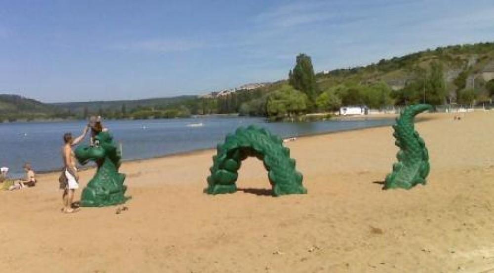 Lake Kir dog swimming, Dijon, France - Image 2