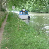 A61 Exit 22 a dog walk along the Canal du Midi near Bram, France - Image 3