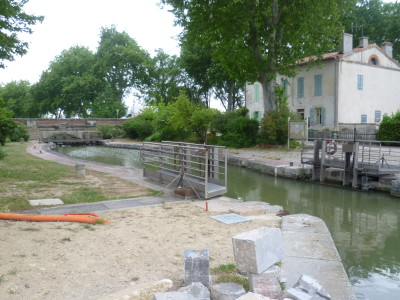 A61 Exit 20 Canal du Midi dog walk, France - Driving with Dogs