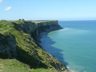 Dog walk near Arromanches, France - Driving with Dogs