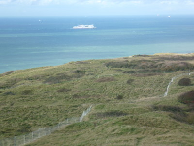 A16 Junction 40 Cap Blanc Nez dog walk near Calais, France - Driving with Dogs
