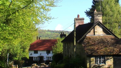 Forest dog walk and nearby pub, East Sussex - Driving with Dogs