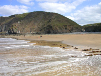 Welcombe dog-friendly beach and pub, Devon - Driving with Dogs
