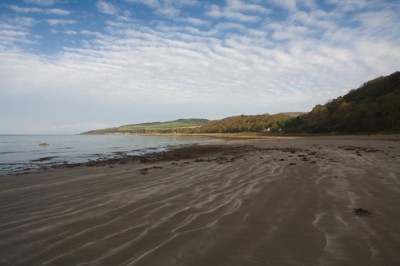 Culzean Bay dog-friendly beach near Ayr, Scotland - Driving with Dogs