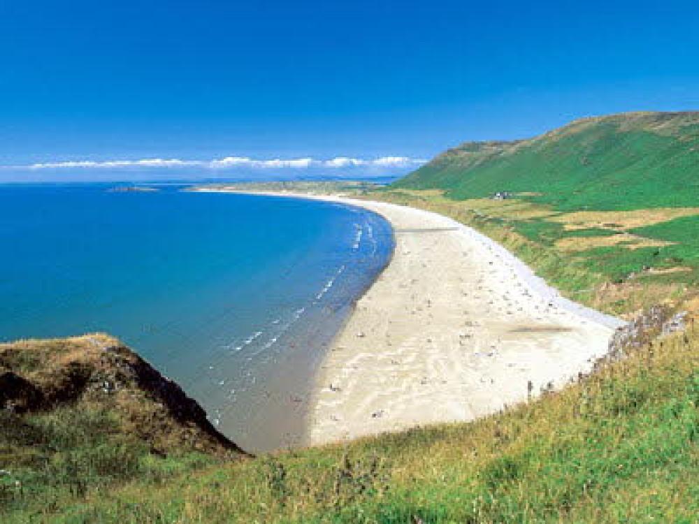 Rhossili dog-friendly beach, Gower Peninsula, Wales - Dog walks in Wales