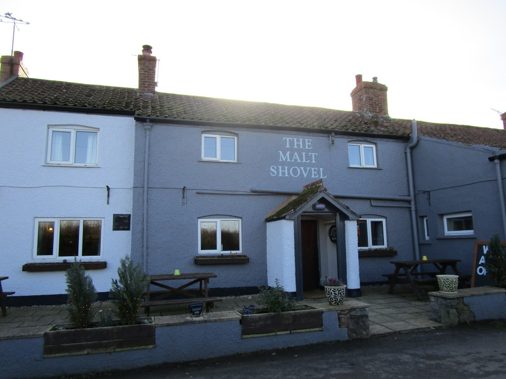 Malt Shovel dog-friendly pub off the A39, Somerset - Dog walks in Somerset