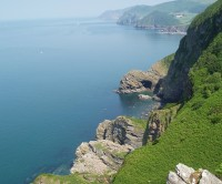 Dog-friendly Woody Bay, Devon - Devon dog-friendly beach