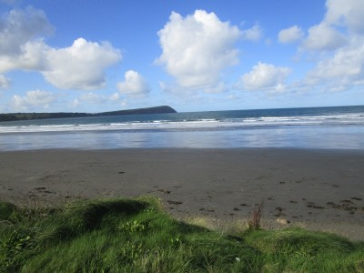 Big sandy dog-friendly beach in Pembrokeshire, Wales - Driving with Dogs