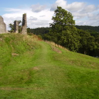 Castle ruins and dog walk, Wales - Dog walks in Wales