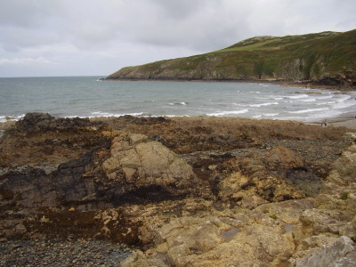 Porth Swtan dog-friendly beach, Anglesey, Wales - Driving with Dogs