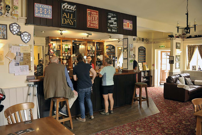A352 dog-friendly pub and dog walk, Dorset - wool-pub-bar-dogfriendly.jpg