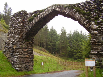 The Arch dog walk near Devil's Bridge, Ceredigion, Wales - Driving with Dogs