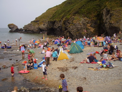 Llangrannog dog-friendly beach, Wales - Driving with Dogs