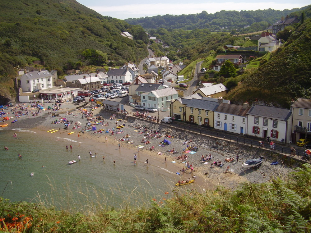 Llangrannog dog-friendly beach, Wales - Dog walks in Wales