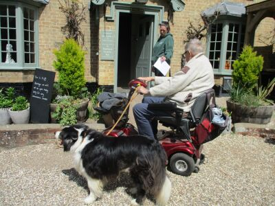 The dog-friendly White Horse at Badingham, Suffolk - Driving with Dogs