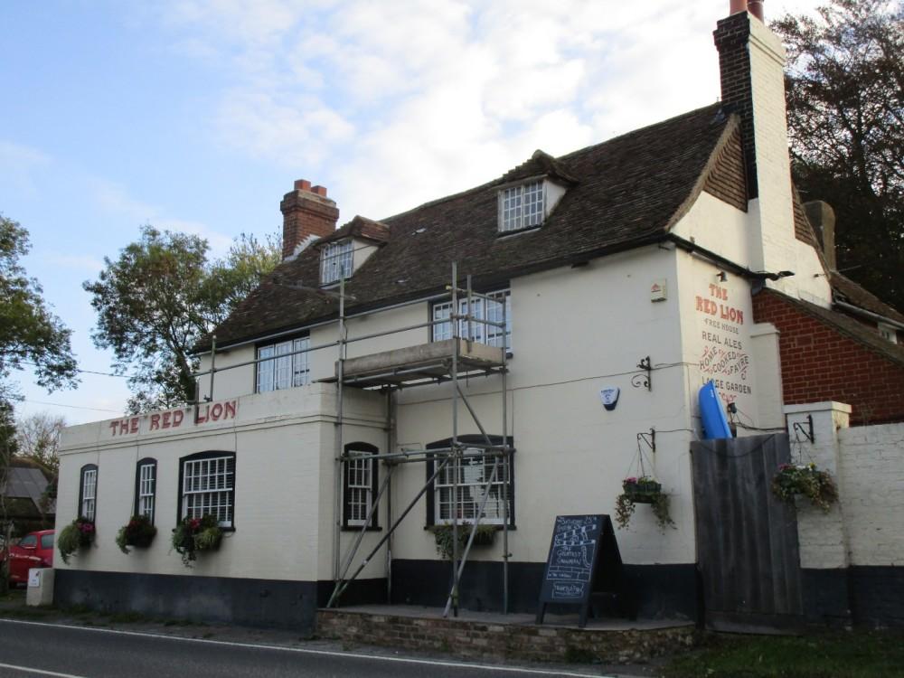Dog-friendly pub and dog walk near Challock, Kent - Kent dog-friendly pubs with dog walks