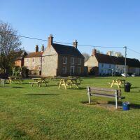 A148 Rudham dog-friendly pub and village green, Norfolk - Norfolk dog-friendly pubs with B&B rooms.JPG