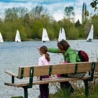 Lovely dog walk with trees, a river and 2 lakes, Hertfordshire - Bury Lake, Aquadrome 2012 1.jpg