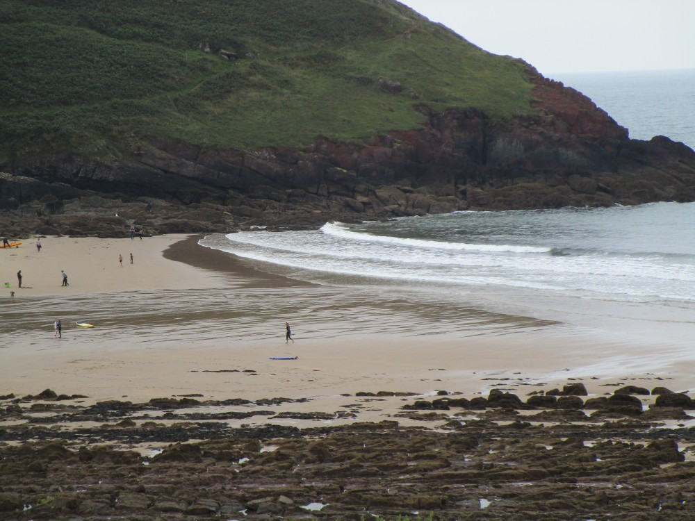 Manorbier dog-friendly beach, Pembrokeshire, Wales - Wales dog-friendly beach and dog walk