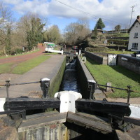 Black country canal pub and dog walk, Staffordshire
