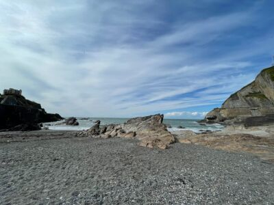 Dog friendly beach in Ilfracombe town, Devon - Driving with Dogs