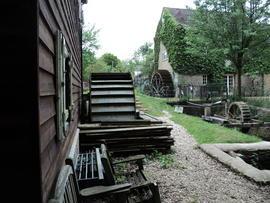 Dog-friendly inn and dog walk near Witney, Oxfordshire - old mill and dog walk.jpg
