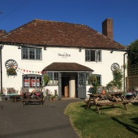 A303 dog walk and dog-friendly pub off the A303, Hampshire