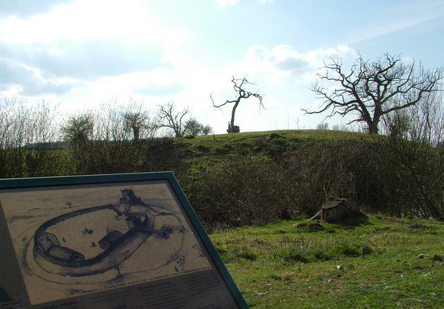 Walk through history with the dog and a good pub too, Suffolk - castle drawing.jpg