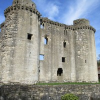 Romantic ruined castle and cafe, Somerset - Somerset dog-friendly cafes and pubs.JPG