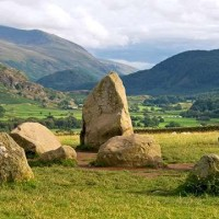 A66 Stone Age dog walk near Keswick, Cumbria