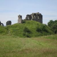 Brooding ruins and riverside dog walk, Shropshire - dog-friendly pubs and dog walks Shropshire.JPG