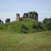 Brooding ruins and riverside dog walk, Shropshire - dog-friendly pubs and dog walks Shropshire.JPG