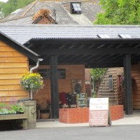 Riverside shops, cafe and dog walk, Devon - Dog-friendly cafe and dog walk.JPG