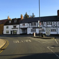 A3400 doggiestop with dog swimming, Warwickshire - Warwickshire dog-friendly pubs and walks.JPG